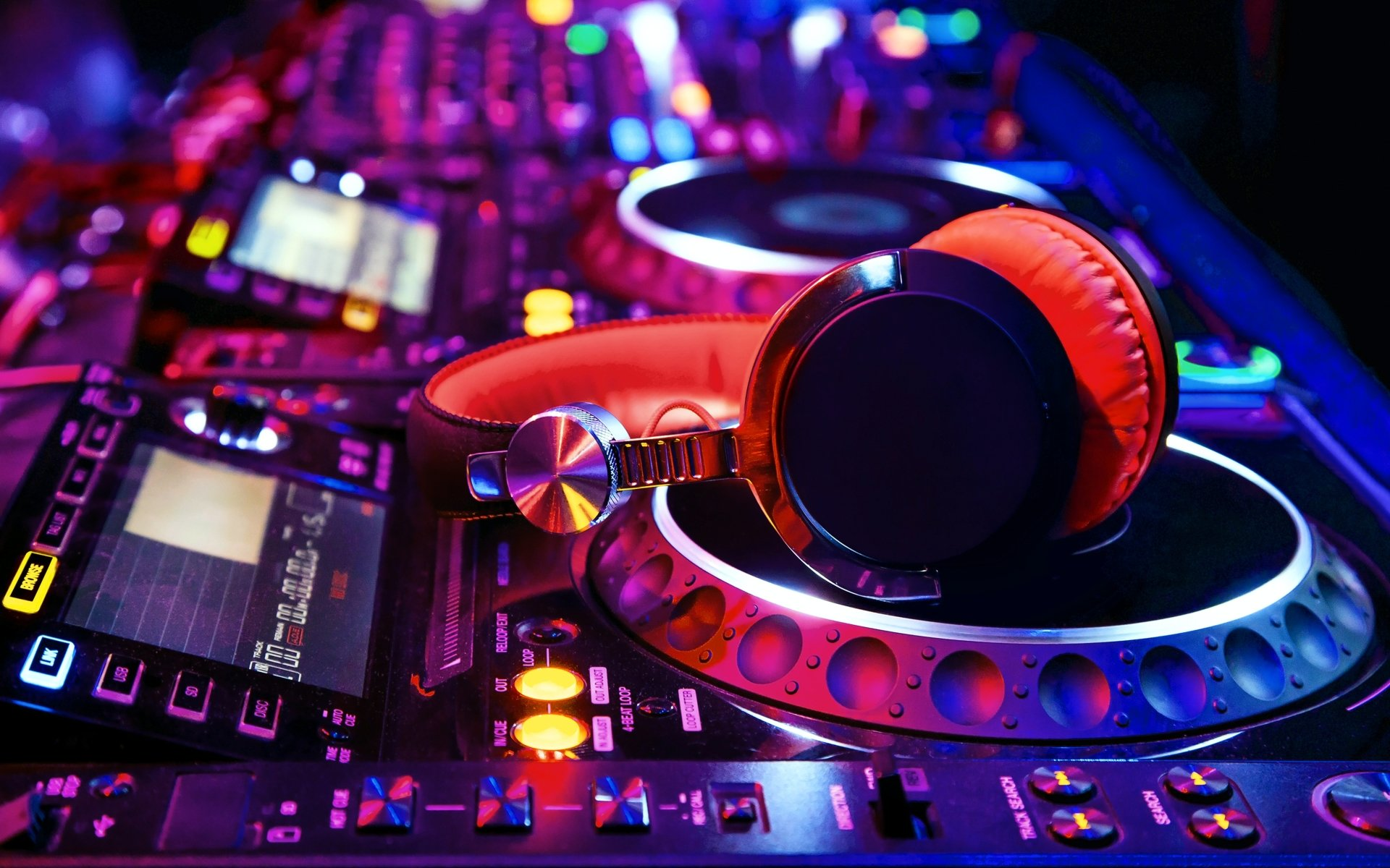 Music - Headphones  Colorful Music Wallpaper