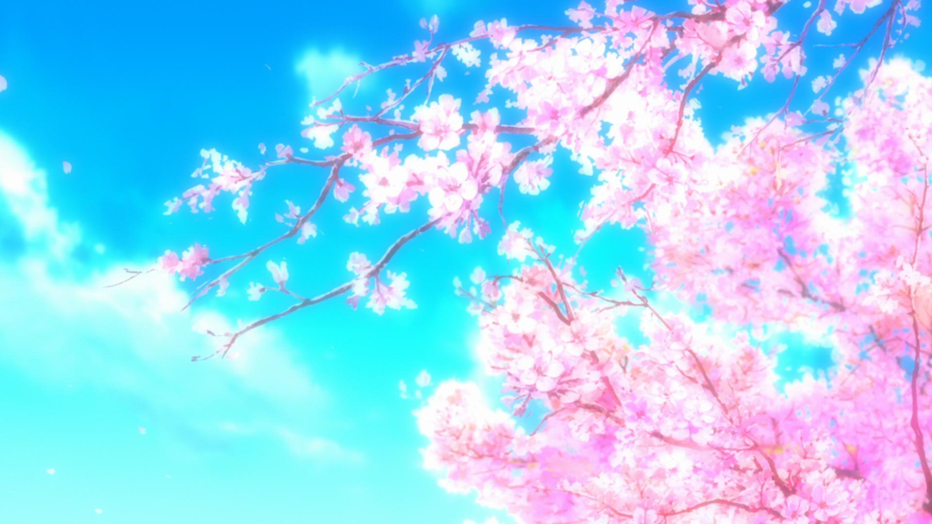 Обои для рабочего стола аниме весна