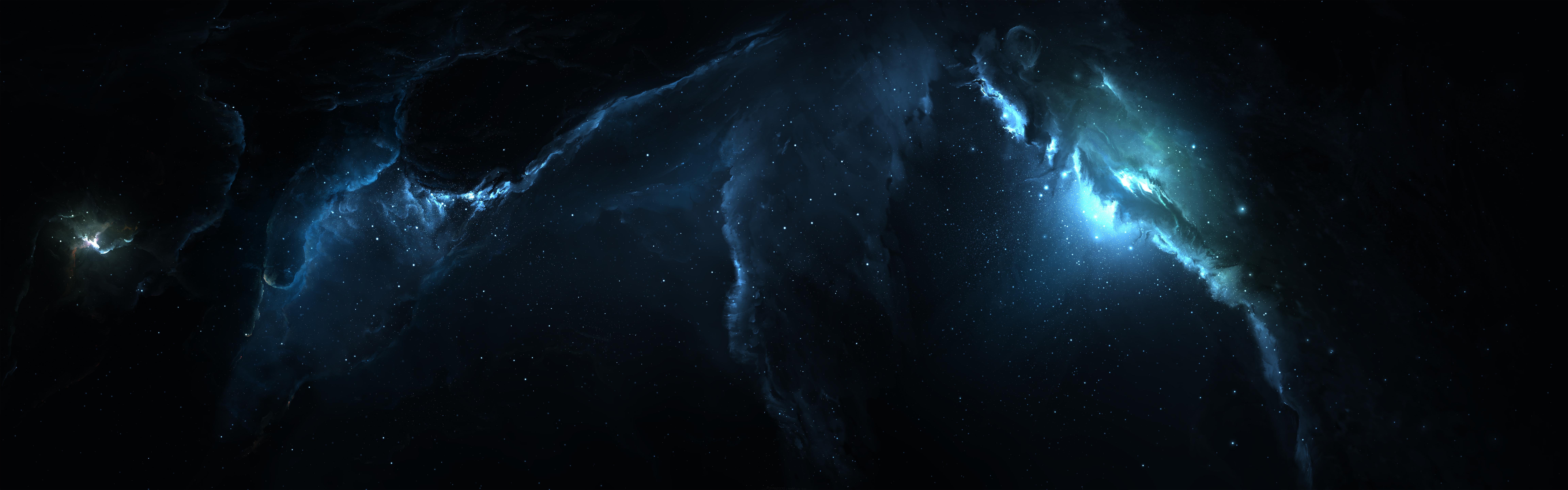 sci fi nebula space blue wallpaper
