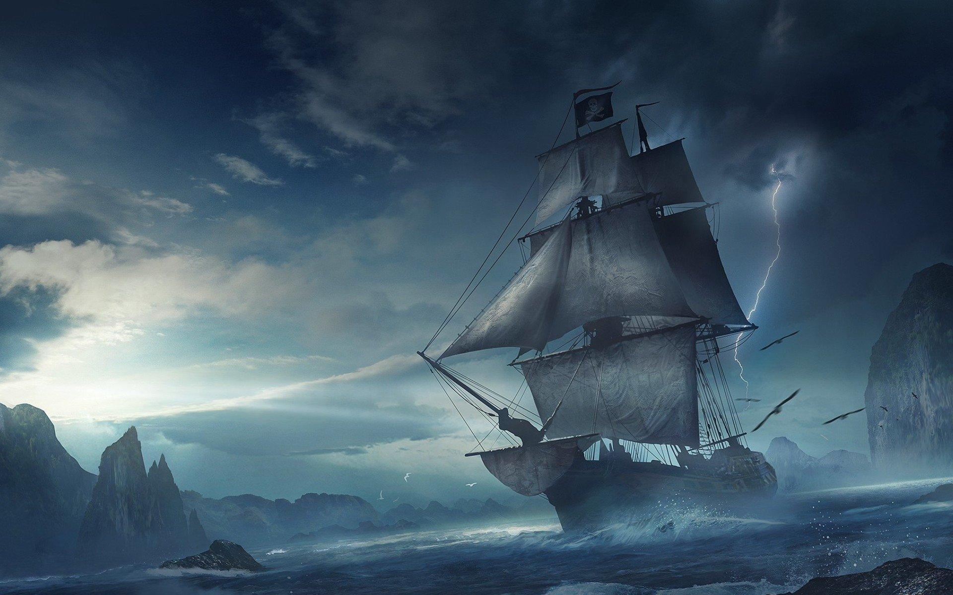 Pirate Ship HD Wallpaper