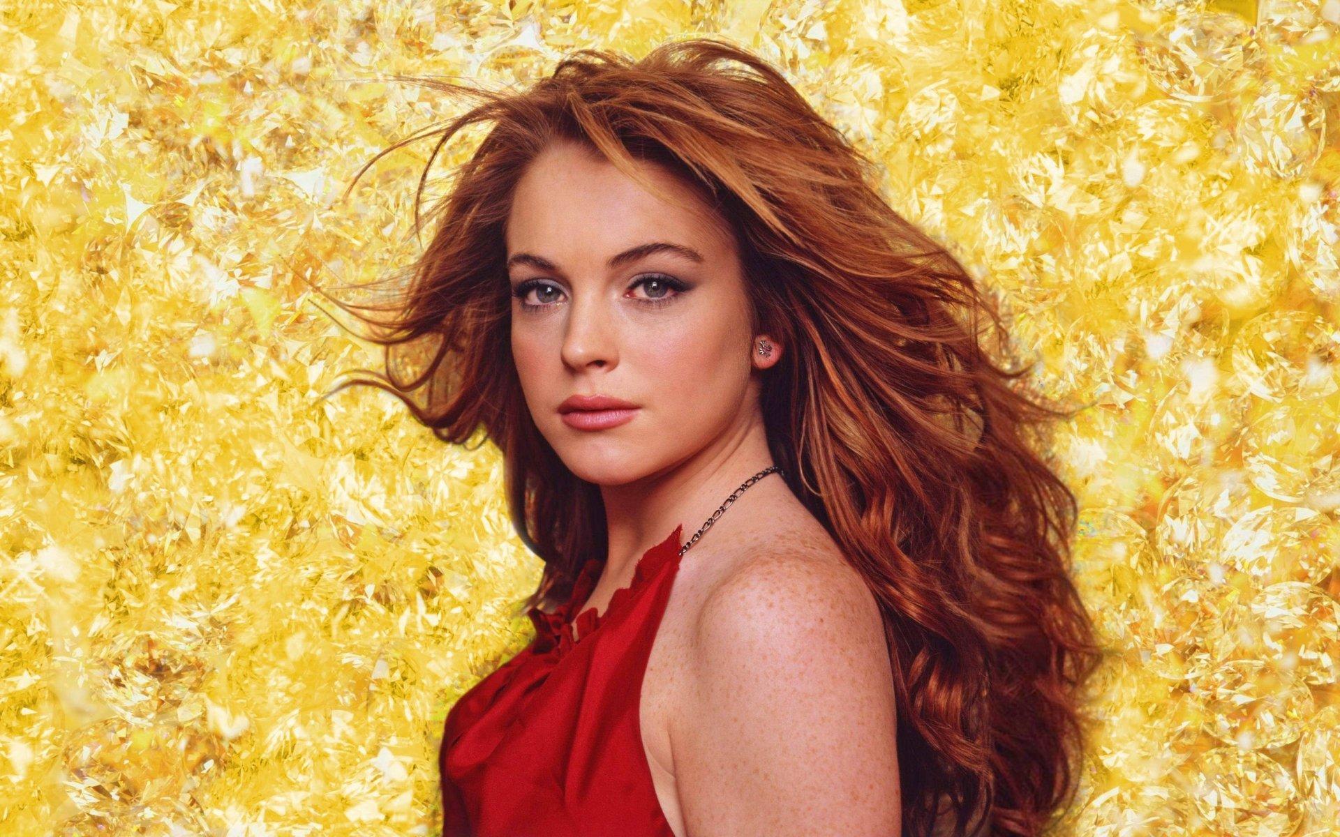 Celebrity - Lindsay Lohan  Hair Diamond Celebrity Wallpaper