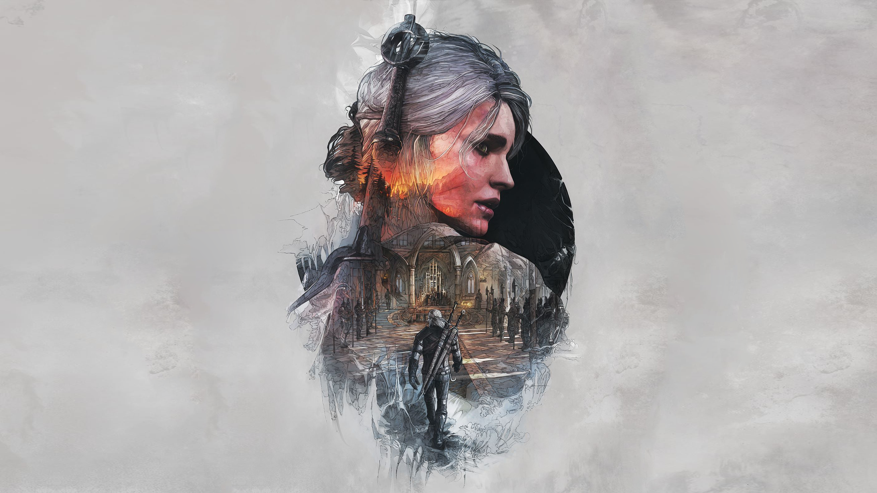 Witcher Book Cover Art ~ The witcher wild hunt full hd wallpaper and background