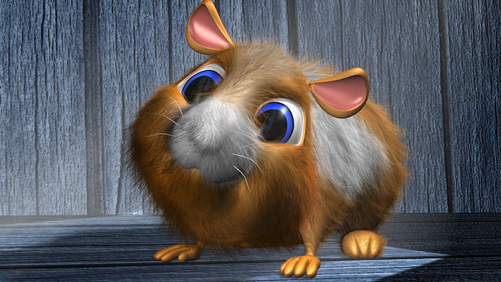 Papel De Parede Cartoon: Cartoon Hamster 3D Full HD Papel De Parede And Planos De