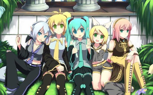 Anime Vocaloid Akita Neru Hatsune Miku Rin Kagamine Luka Megurine Yowane Haku HD Wallpaper   Background Image