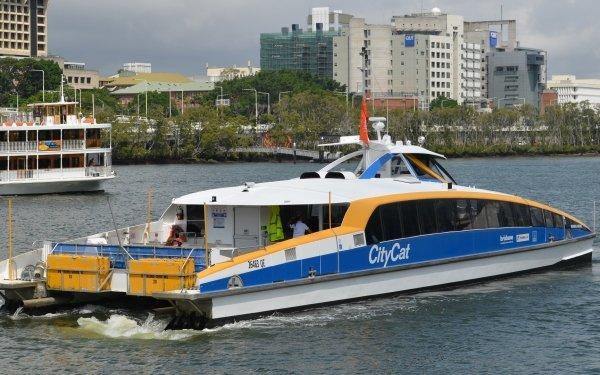 Vehicles Ferry Brisbane Boat Passenger Ship Photography Beenung-Urrung River HD Wallpaper   Background Image