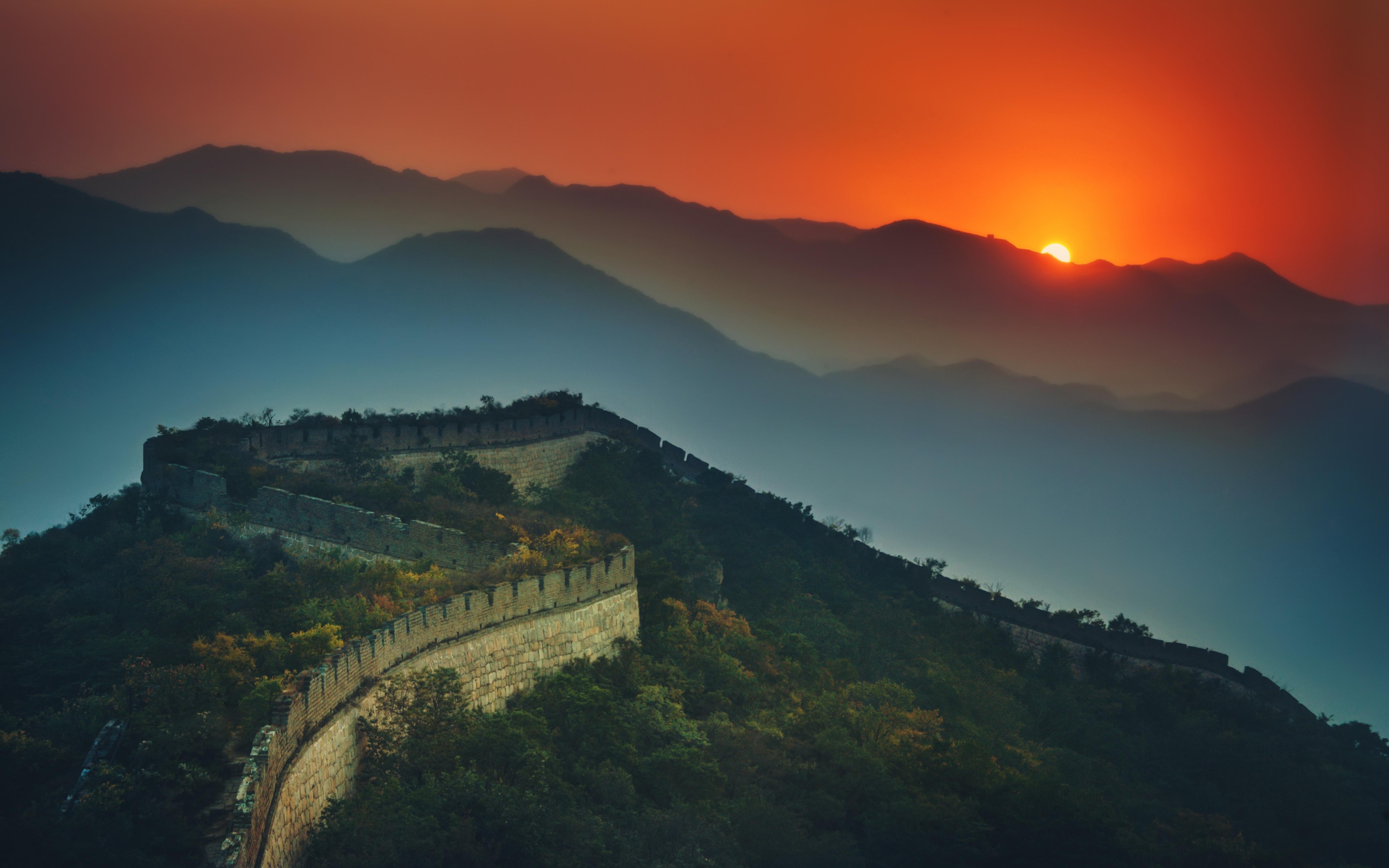 The Great Wall Of China 5k Retina Ultra HD Wallpaper