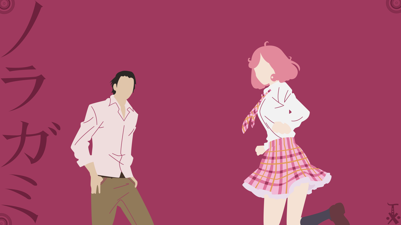 Anime - Noragami Pink Hair Purple Daikoku Kofuku WallpaperNoragami Kofuku And Daikoku