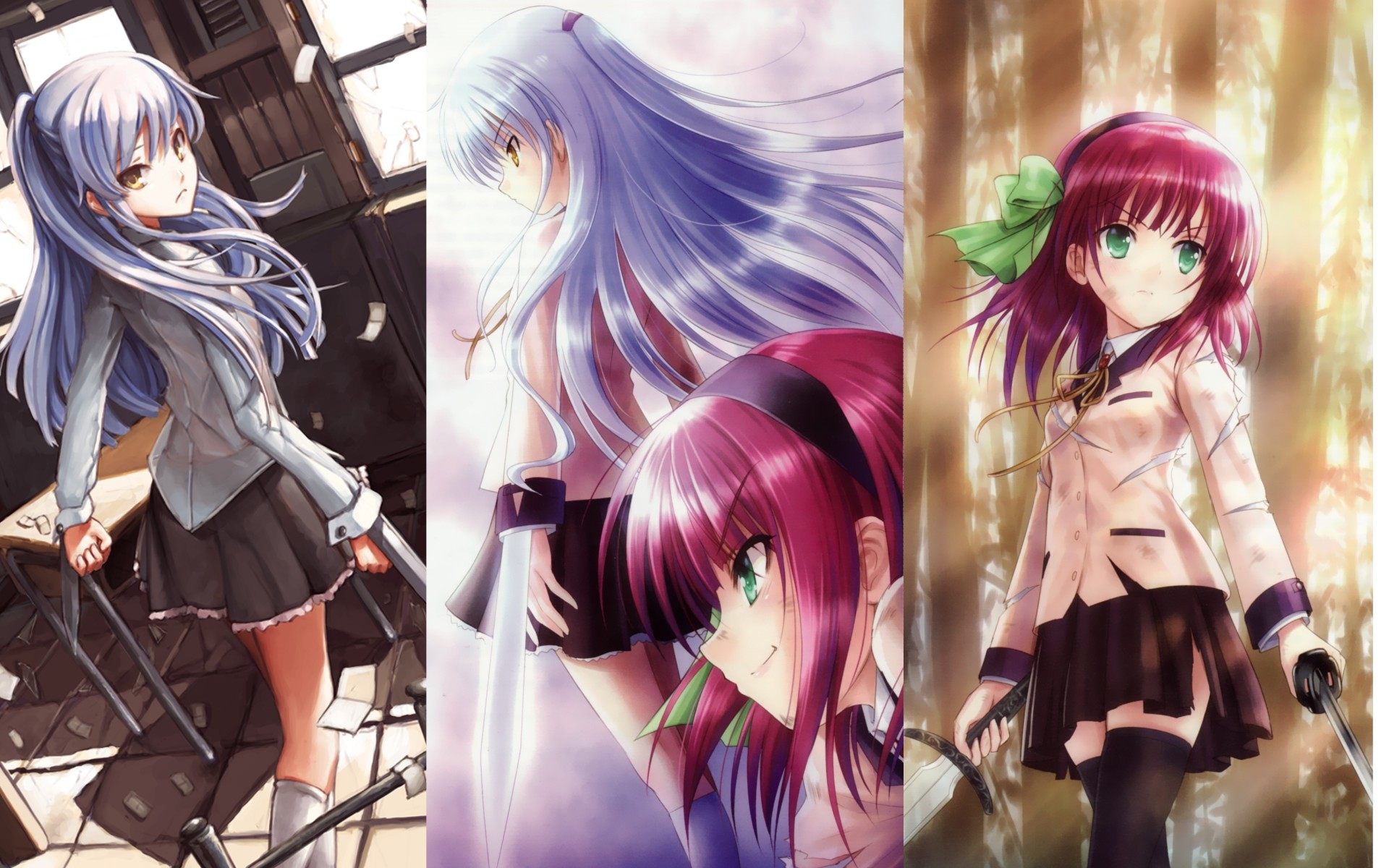 Angel beats full hd wallpaper and background image 1920x1200 anime angel beats kanade tachibana yuri nakamura wallpaper voltagebd