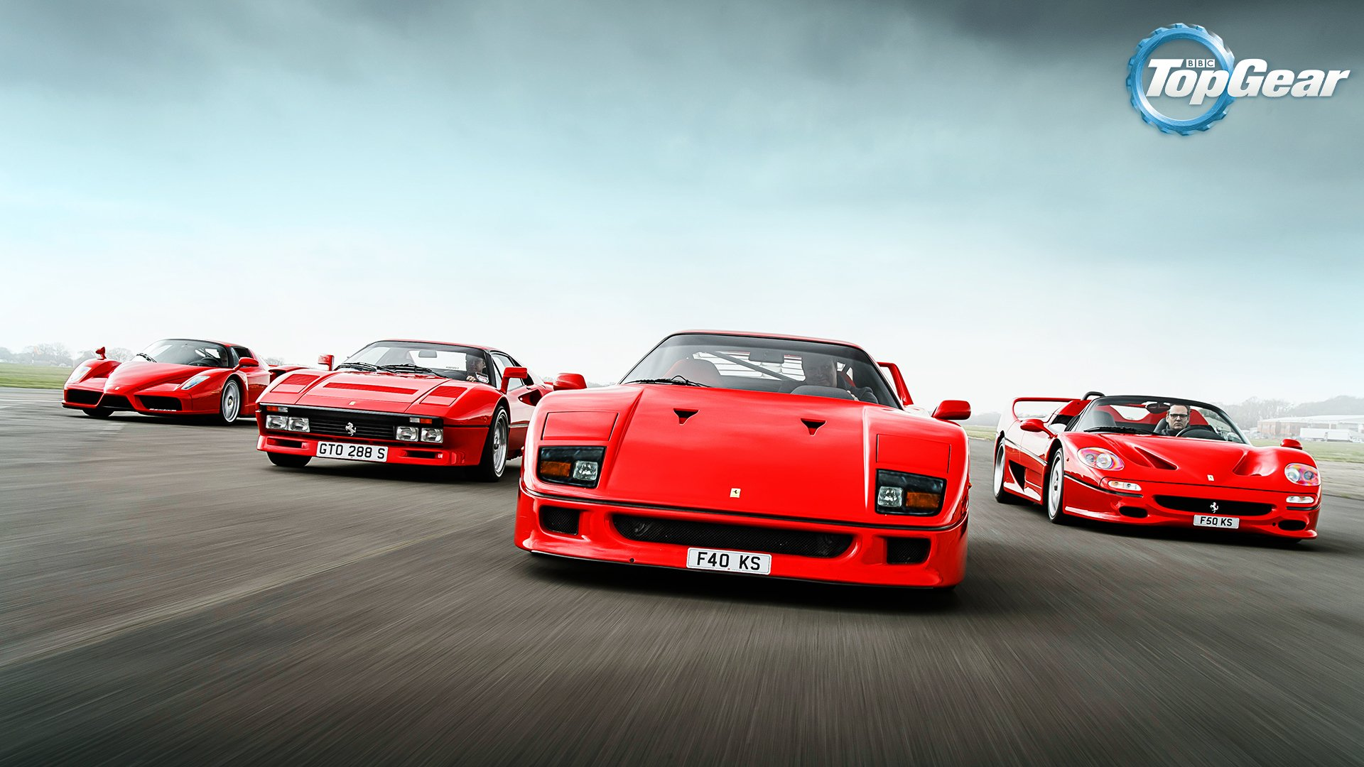 TV Show - Top Gear  Ferrari 288 GTO Ferrari F50 Ferrari F40 Wallpaper