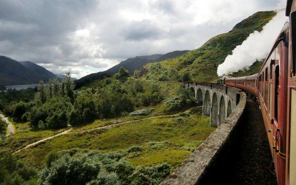 Photography Landscape Scotland Train HD Wallpaper | Background Image