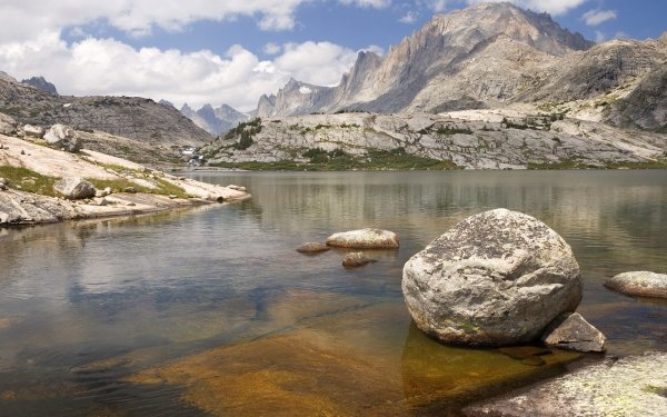 Earth Mountain Mountains Water Stream Creek River Rock HD Wallpaper | Background Image