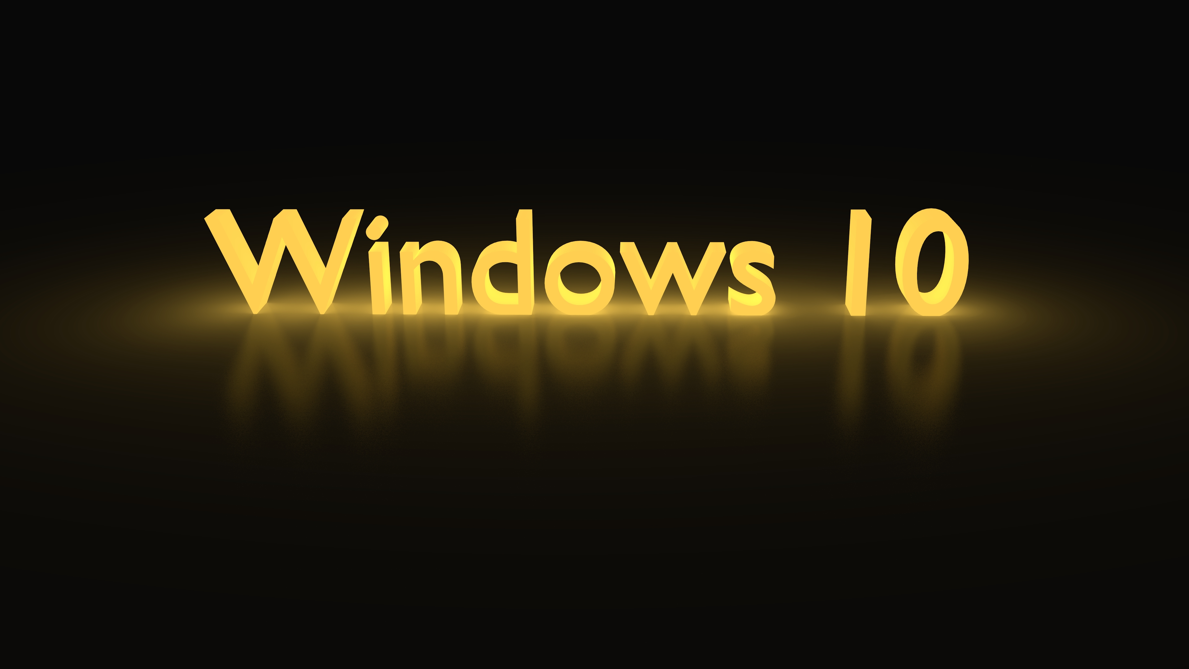 Windows 10 Yellow Glowing 4k Ultra Hd Wallpaper