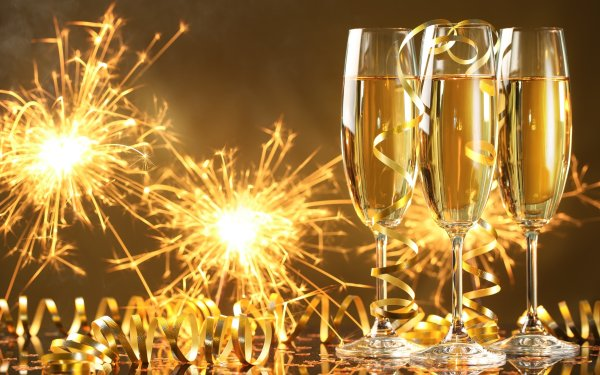 Holiday New Year Sparkles Champagne HD Wallpaper   Background Image