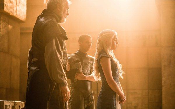 TV Show Game Of Thrones Barristan Selmy Grey Worm Daenerys Targaryen Ian McElhinney Jacob Anderson Emilia Clarke HD Wallpaper | Background Image