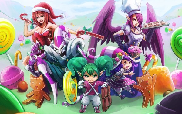 Video Game League Of Legends Miss Fortune Fiddlesticks Poppy Lulu Morgana HD Wallpaper | Background Image