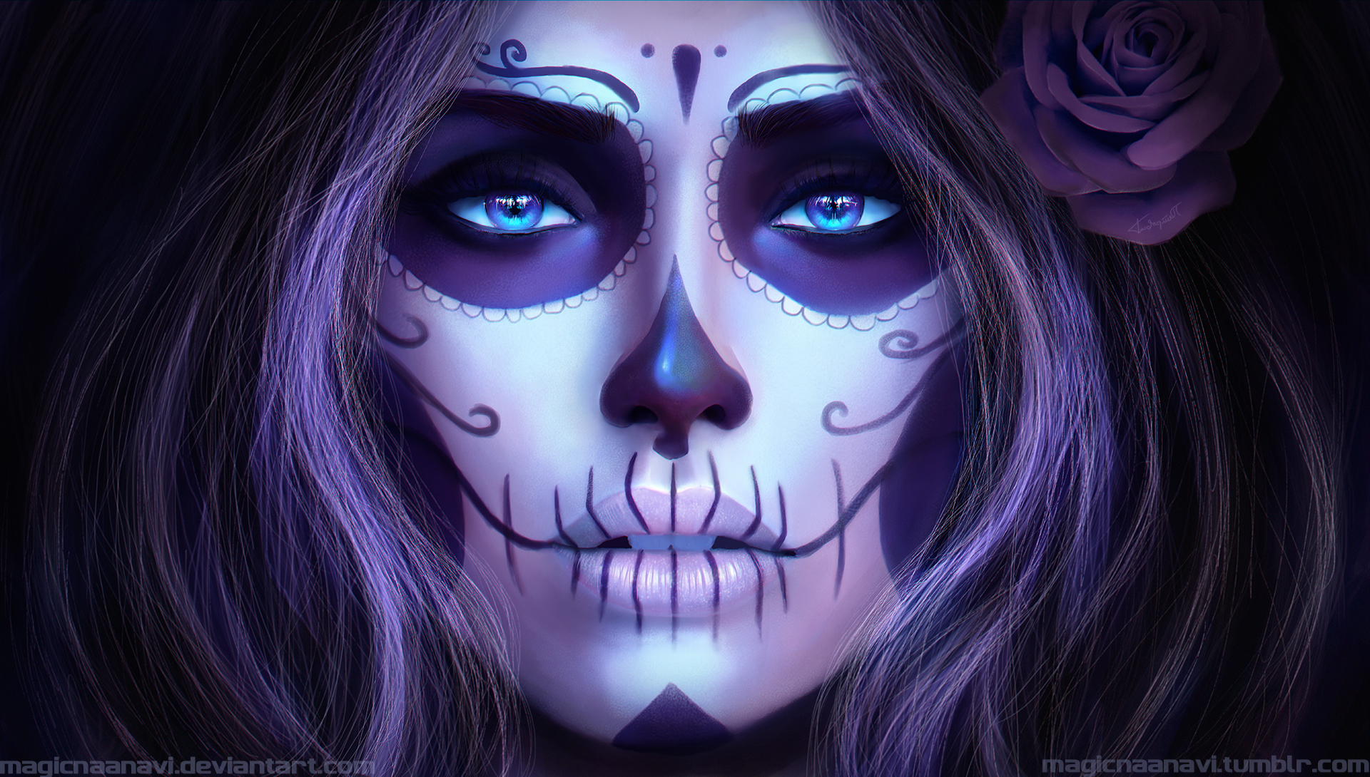 Sugar Skull Full HD Wallpaper And Background Image