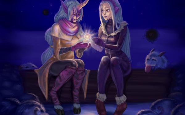 Video Game League Of Legends Soraka Syndra HD Wallpaper | Background Image