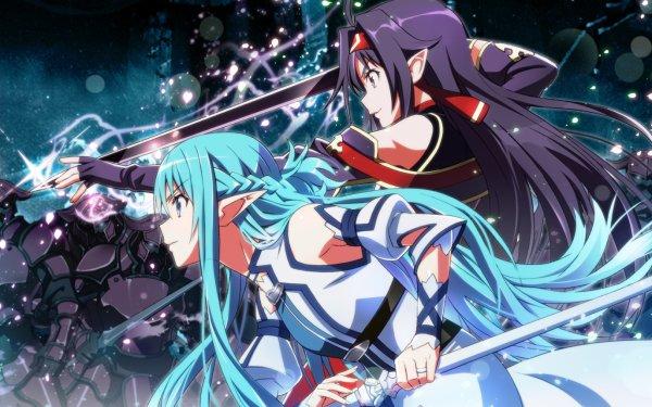 Anime Sword Art Online II Sword Art Online Yuuki Konno Asuna Yuuki Sword Elf HD Wallpaper | Background Image