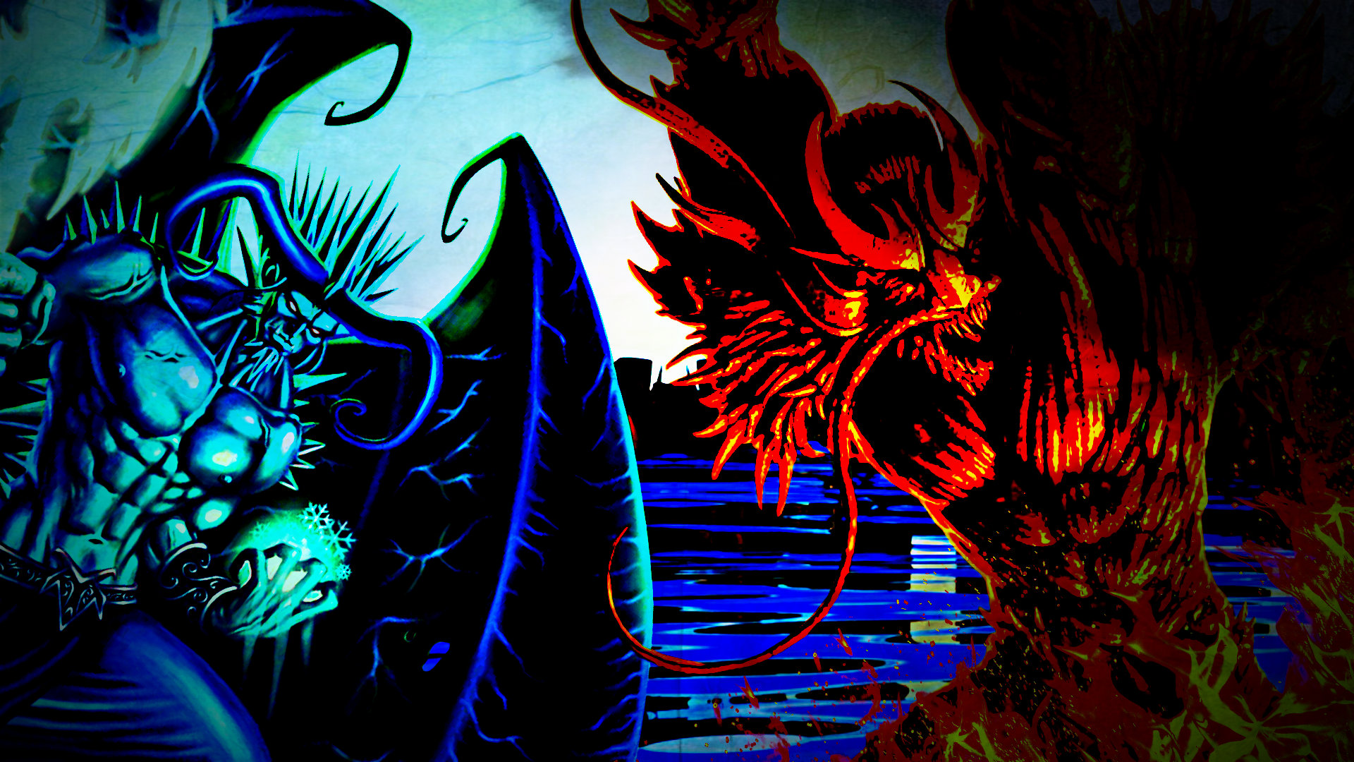 god vs devil wallpaper - photo #12