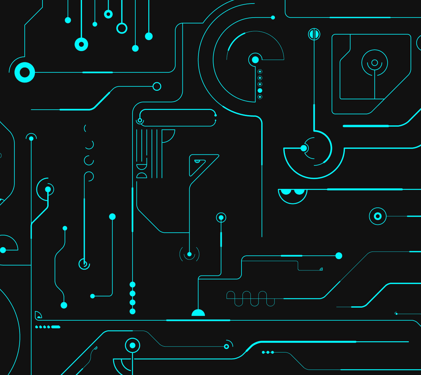Neon Circuits Wallpaper And Background Image