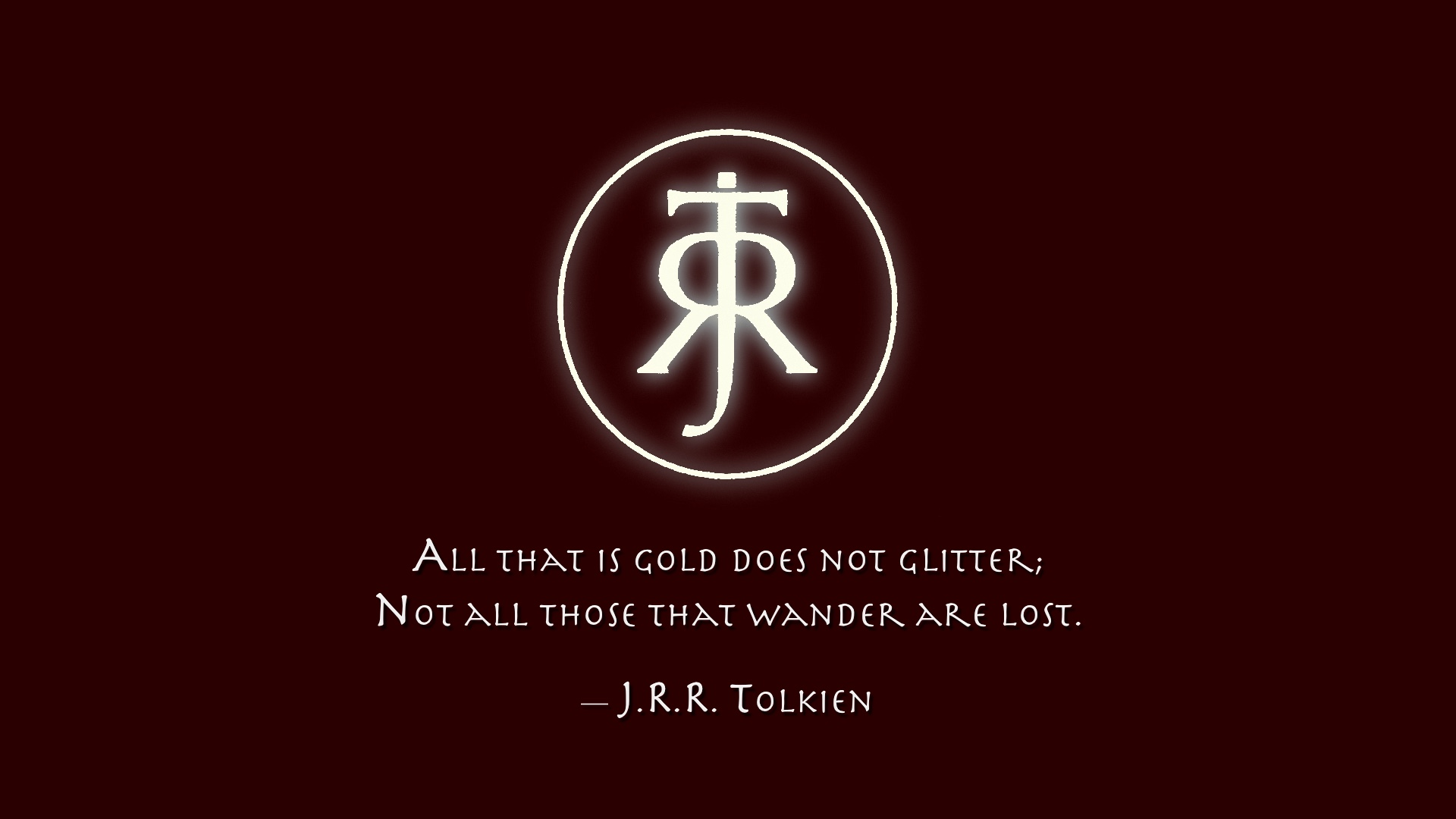 Tolkien Quotes J.r.r.tolkien Quote Full Hd Wallpaper And Background Image