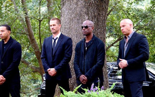 Movie Furious 7 Fast & Furious Dominic Toretto Vin Diesel Brian O'Conner Paul Walker Roman Pearce Tyrese Gibson Ludacris Tej HD Wallpaper | Background Image