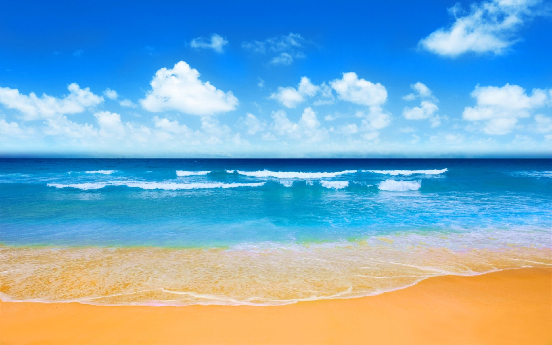 Earth - Beach  Azure Horizon Sunny Summer Wallpaper