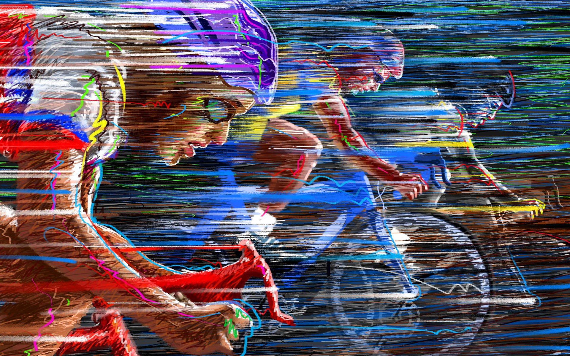 Fondo Con Iconos De Deporte: Ciclismo Full HD Fondo De Pantalla And Fondo De Escritorio