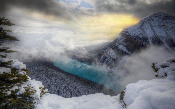 Earth Lake Louise Lakes Banff Banff National Park Canada Alberta Winter HD Wallpaper | Background Image