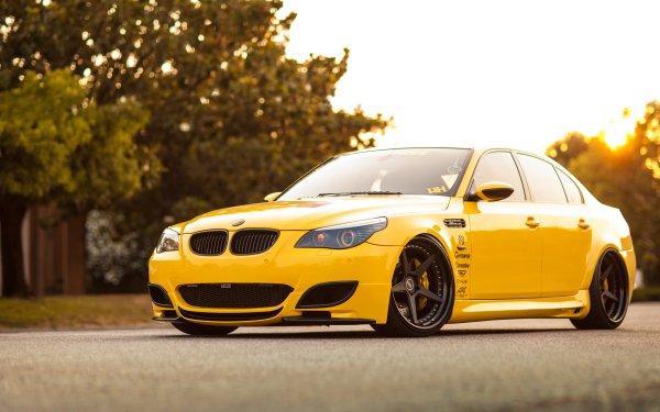 Fahrzeuge BMW M5 BMW Autos Yellow Car HD Wallpaper | Hintergrund