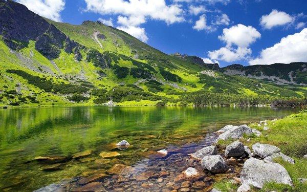 Earth Mountain Mountains Poland Lake Landscape HD Wallpaper | Background Image
