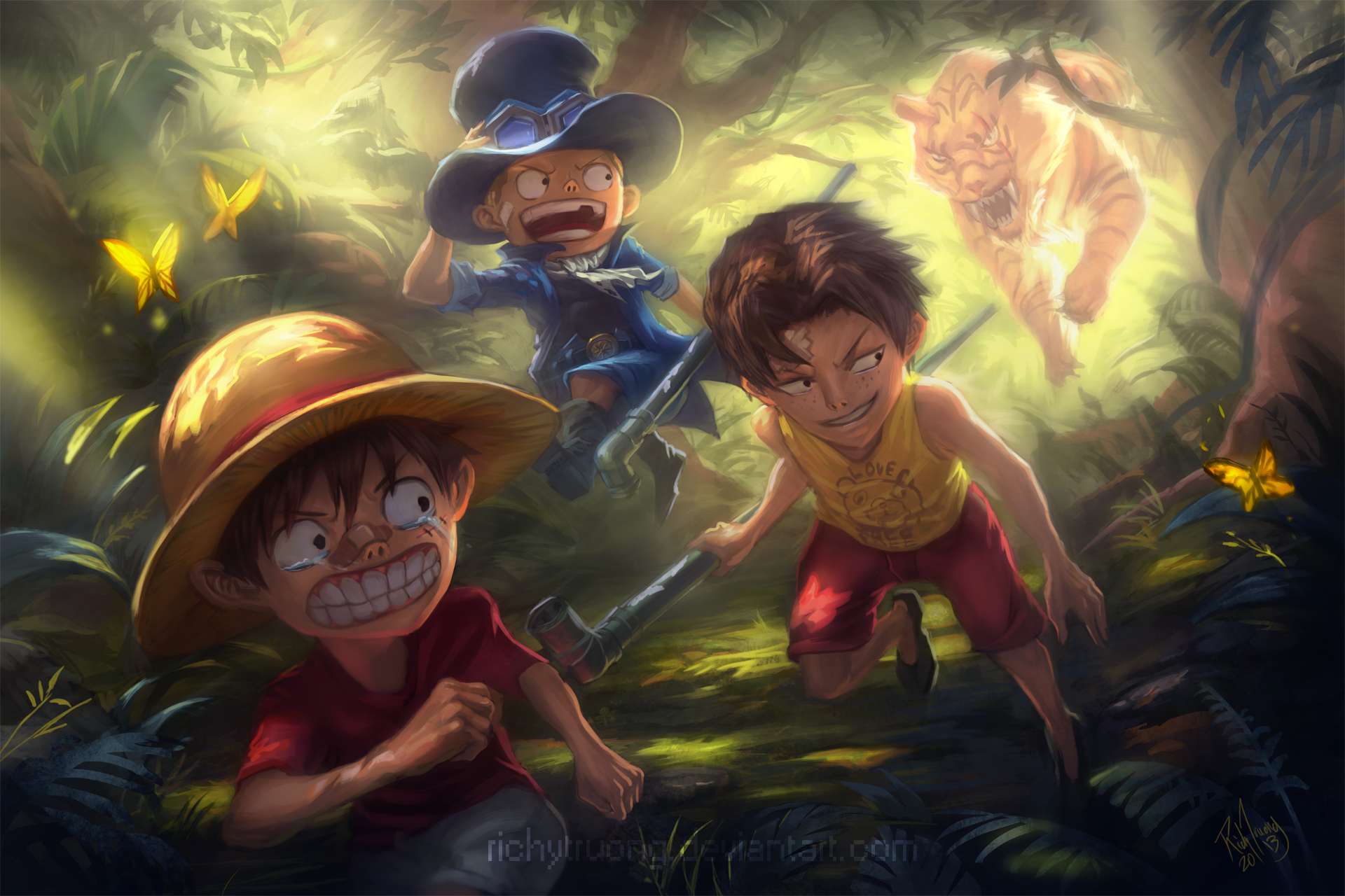 动漫 - 海贼王  Monkey D. Luffy Sabo (One Piece) Portgas D. Ace Straw Hat 壁纸
