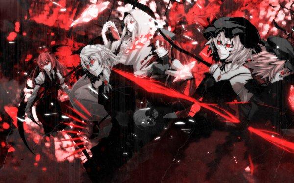 Anime Touhou Remilia Scarlet Flandre Scarlet Sakuya Izayoi Patchouli Knowledge Hong Meiling HD Wallpaper | Background Image