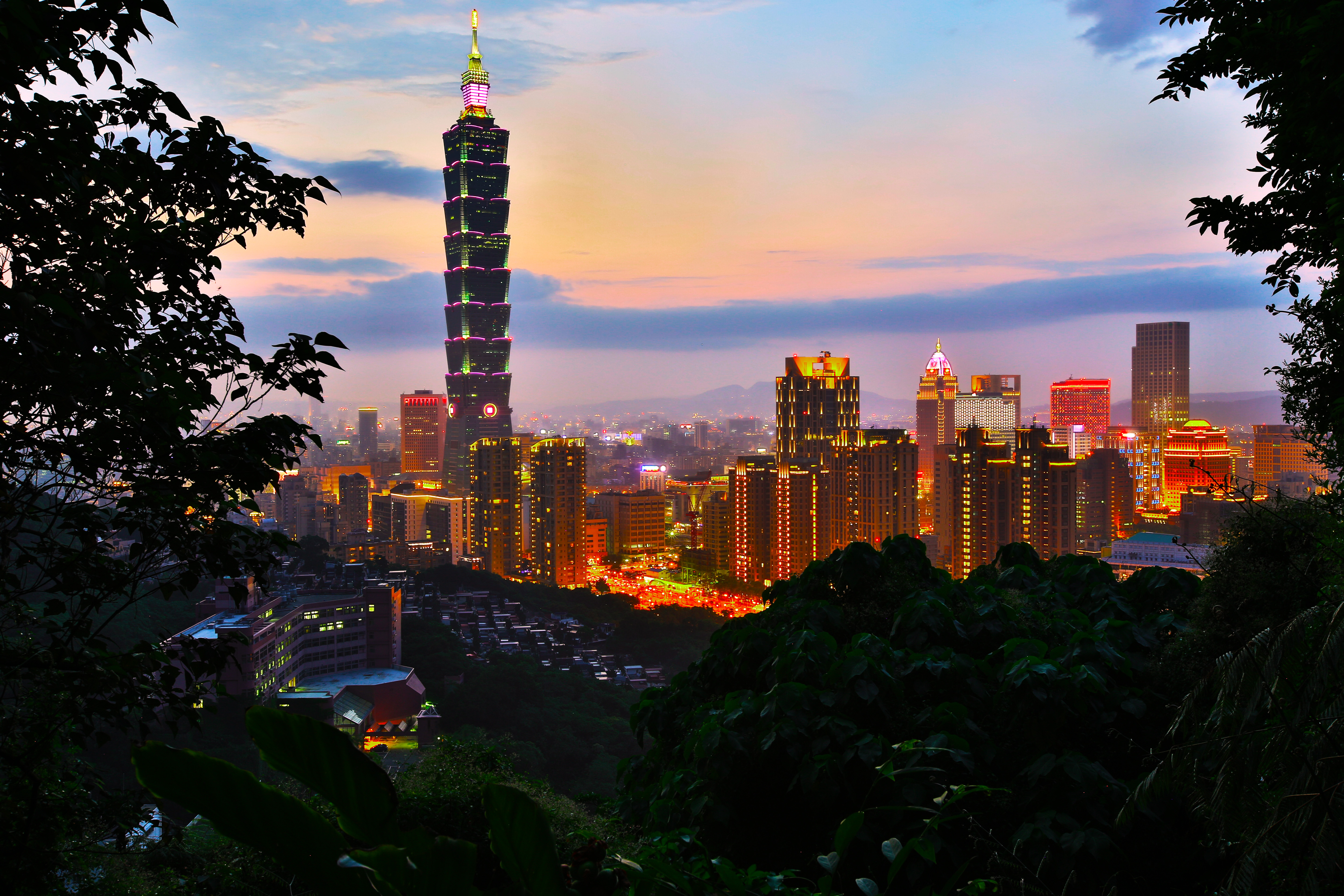 skyline taipei 5k retina ultra hd wallpaper and background image