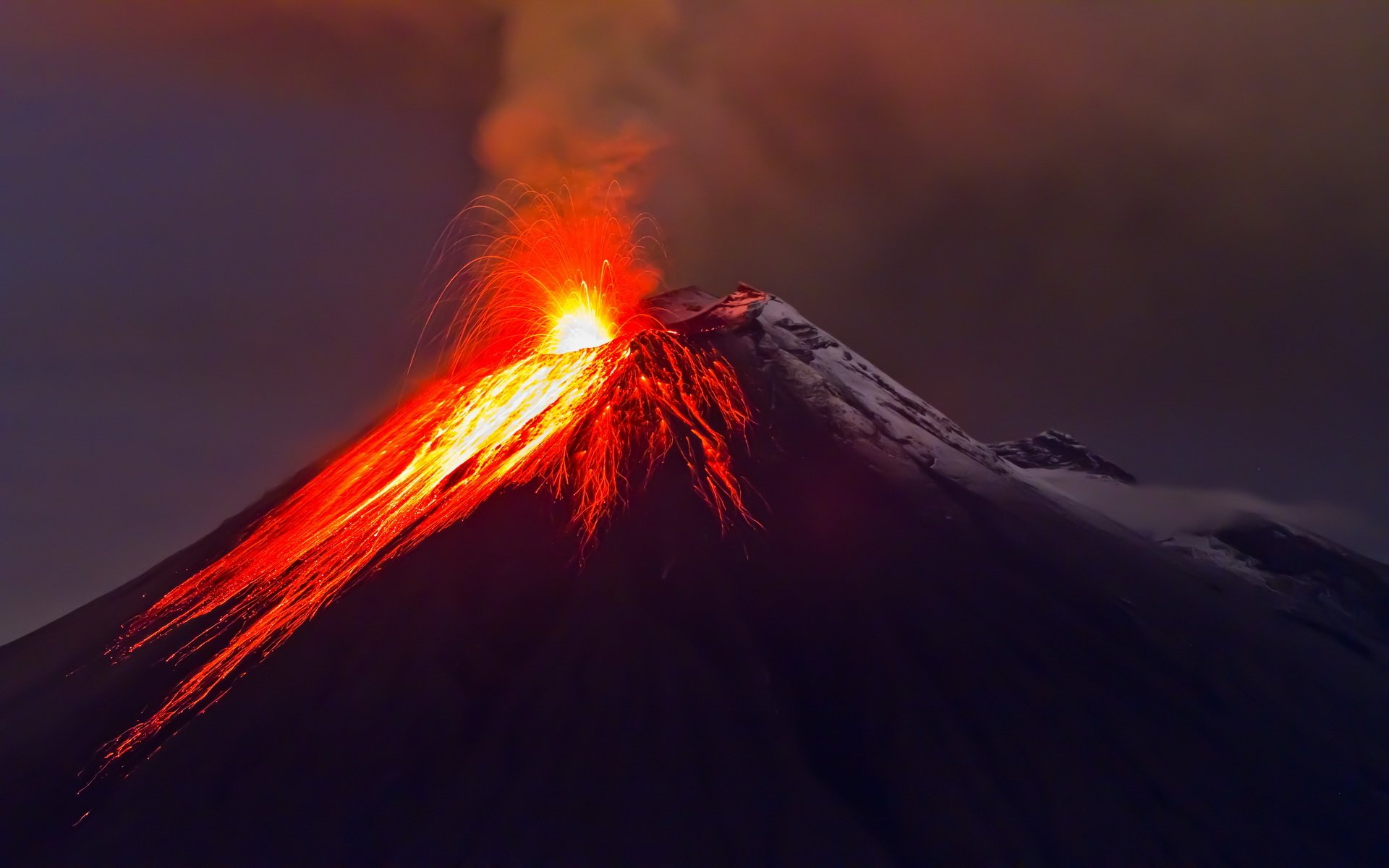 Eruption Of The Volcano With Molten Lava Hd Wallpaper Background Image 1920x1200 Id 596554 Wallpaper Abyss