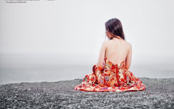 Women Asian Woman Model Dress Rear HD Wallpaper | Background Image