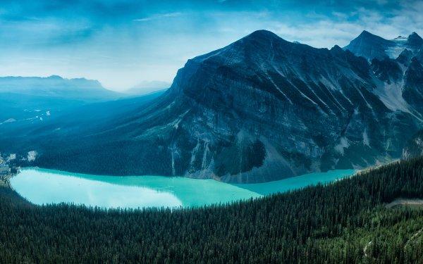 Earth Lake Louise Lakes Lake Canada Alberta Banff Banff National Park Mountain Canadian Rockies HD Wallpaper | Background Image
