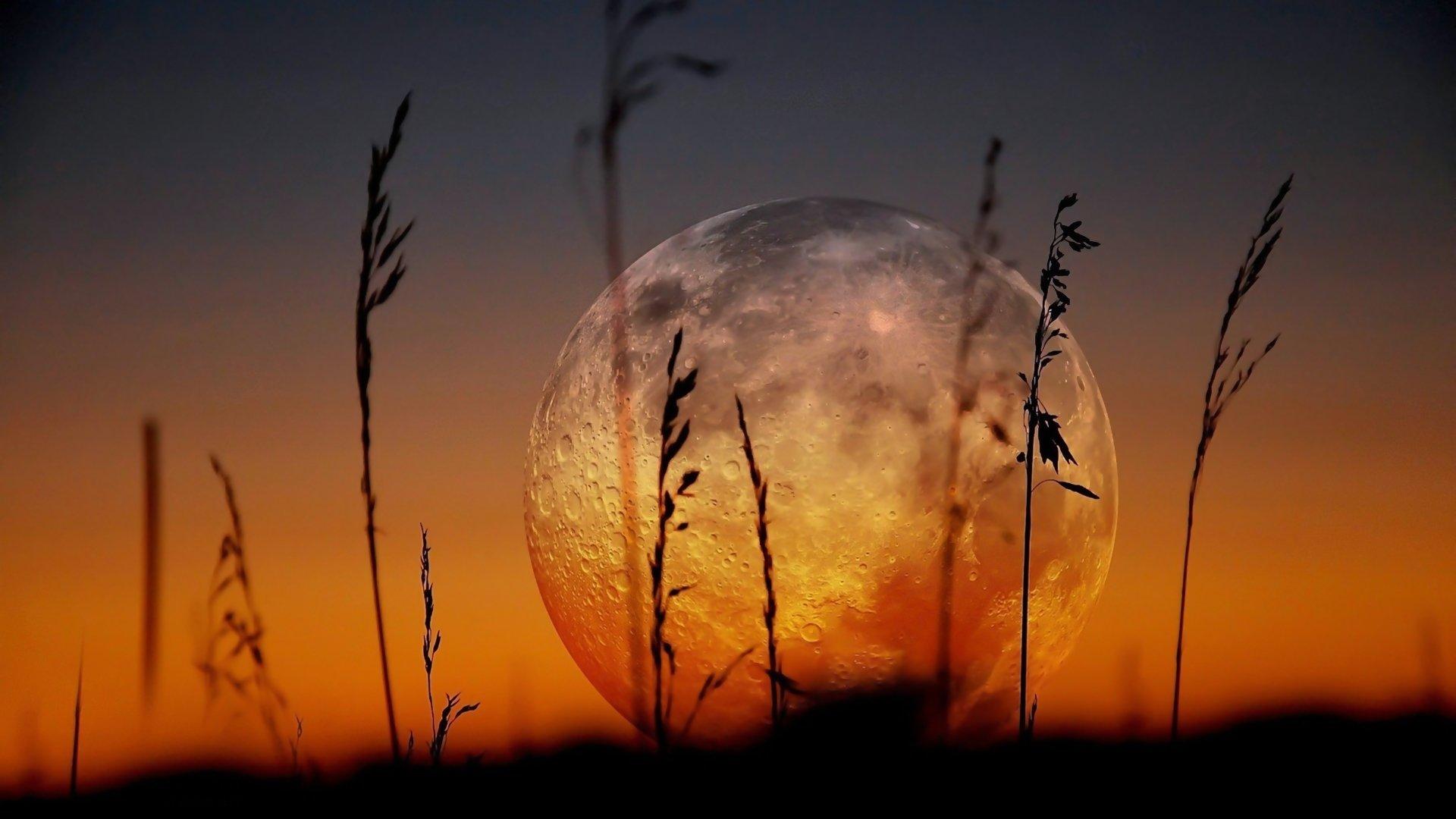 Earth - Moon  Earth Nature Landscape Sunset Wallpaper