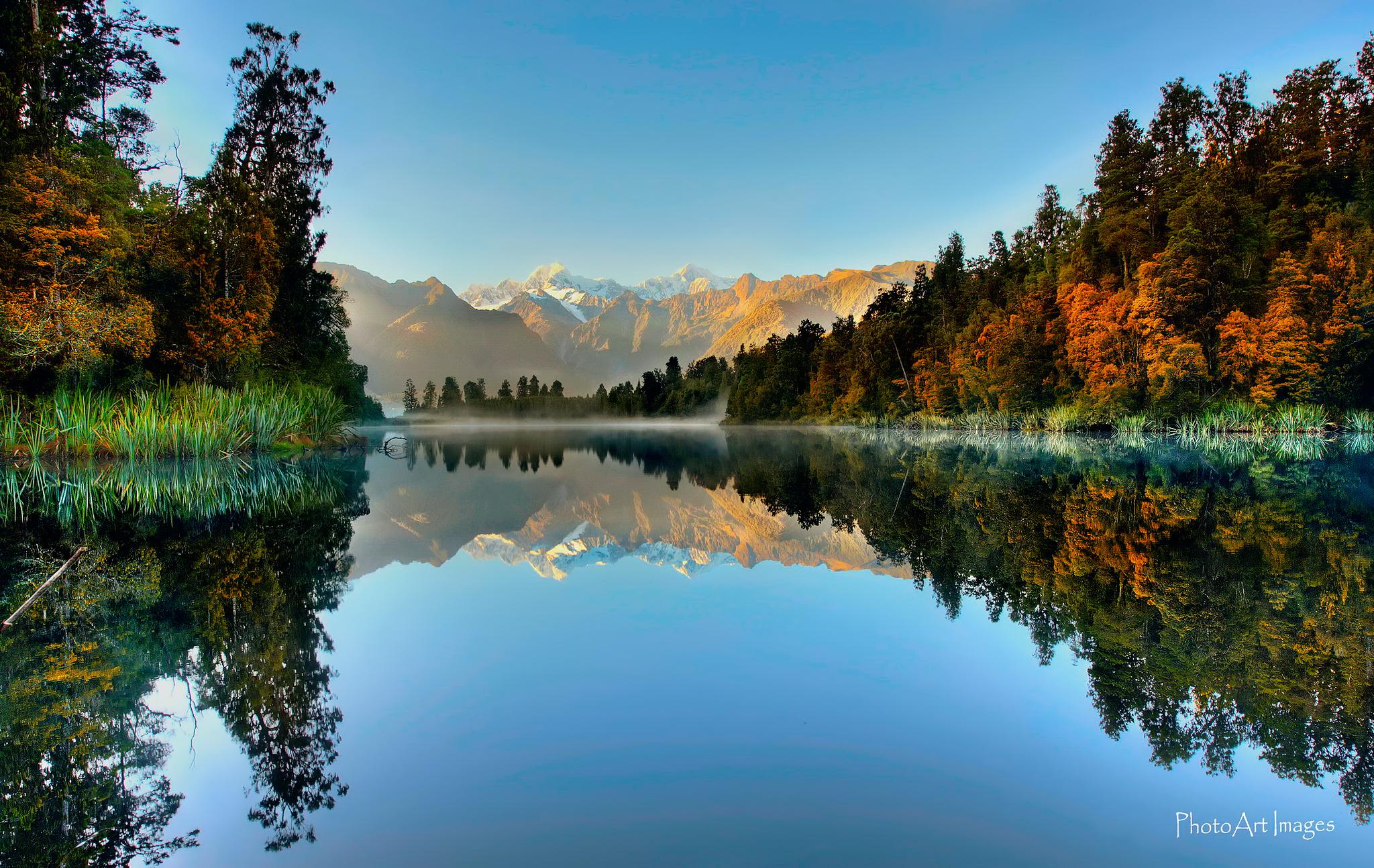 Lake Matheson HD Wallpaper | Background Image | 2048x1294 | ID ...