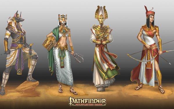 Video Game Pathfinder Anubis Bastet Osiris Gods Egyptian HD Wallpaper | Background Image