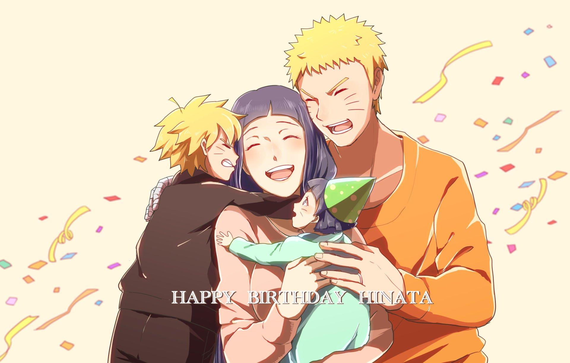 Anime - Boruto: Naruto the Movie  Boruto Uzumaki Himawari Uzumaki Hinata Hyūga Naruto Uzumaki Naruto Wallpaper