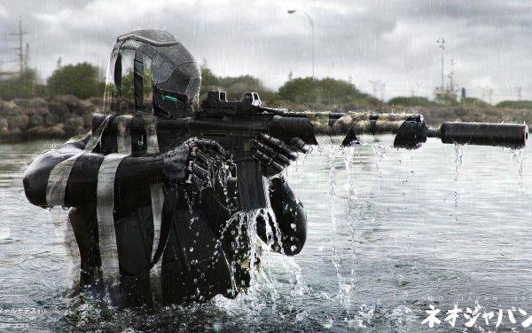 Sci Fi Warrior Neo Japan 2202 HD Wallpaper | Background Image