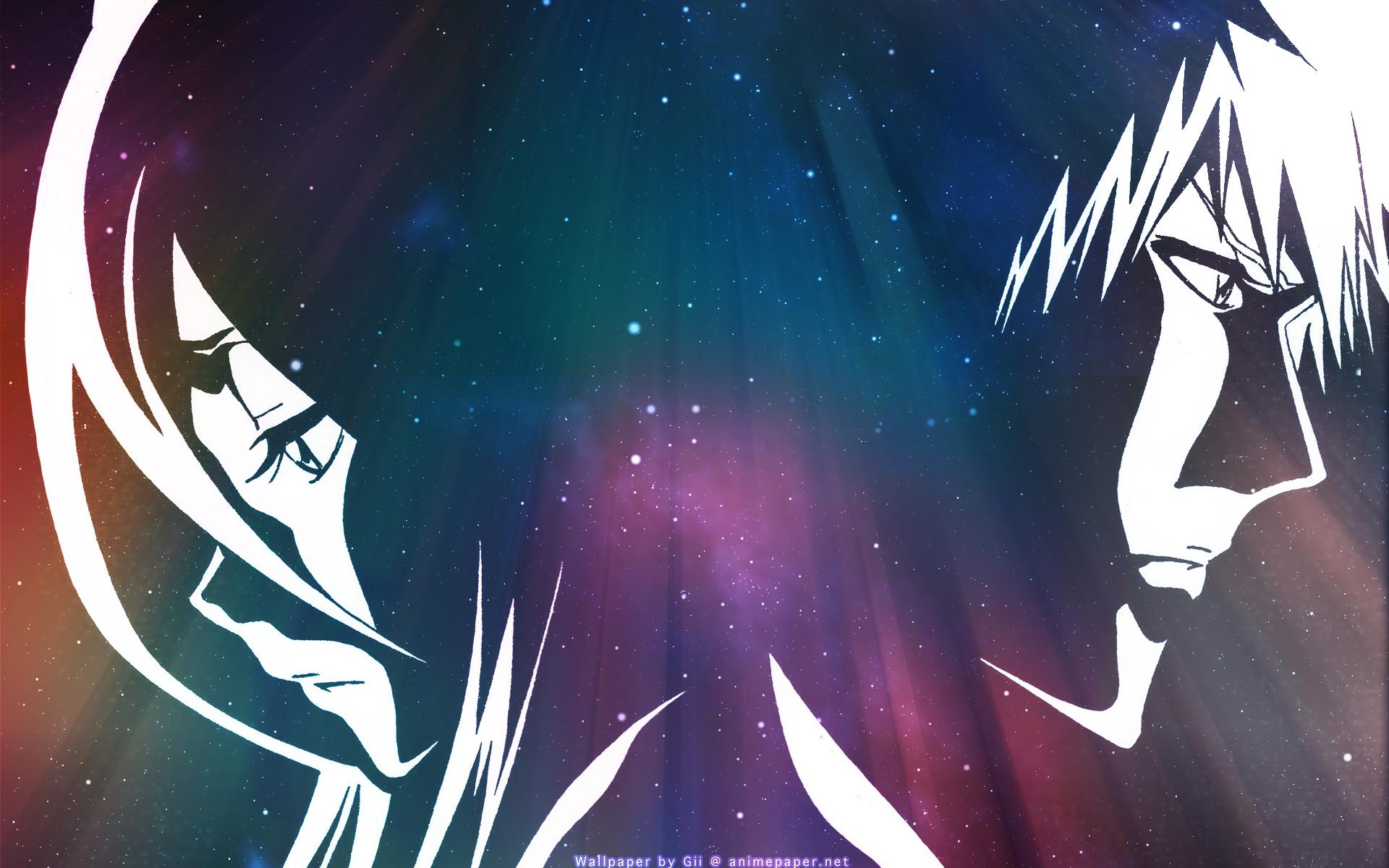Anime - Bleach  Ichigo Kurosaki Rukia Kuchiki Wallpaper