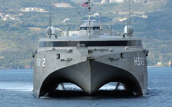 Military HSV-2 Swift Ship Navy Warship HD Wallpaper   Background Image