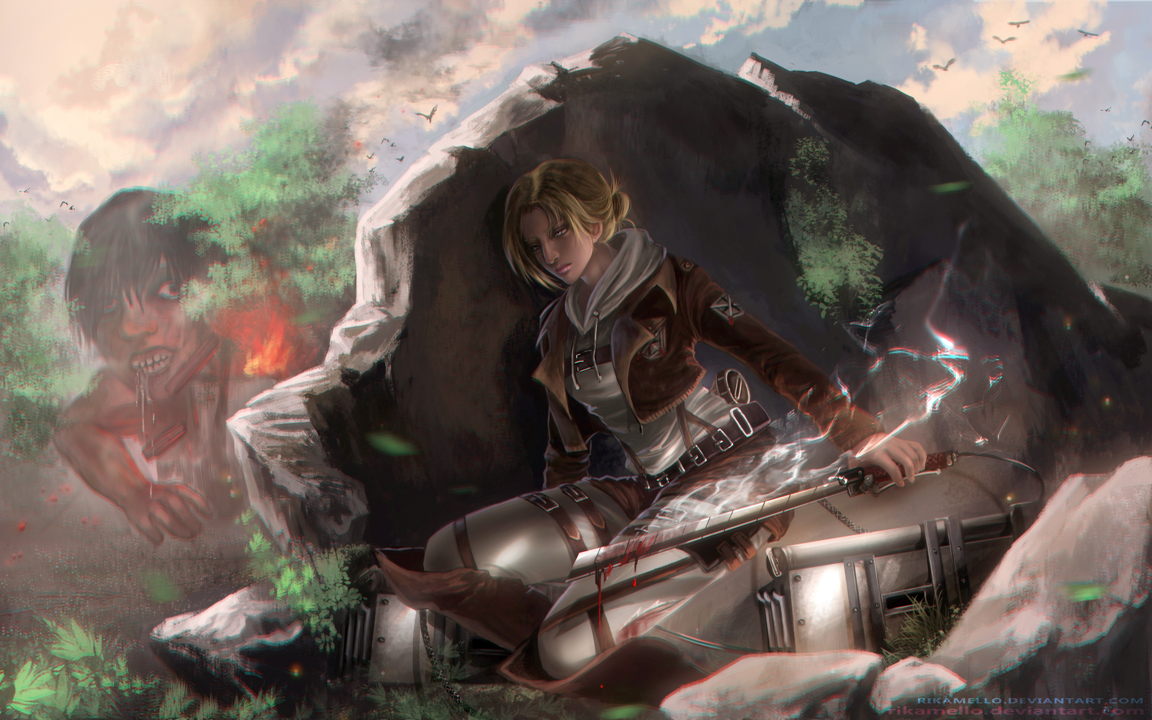 200 Annie Leonhart Hd Wallpapers Background Images Wallpaper Abyss