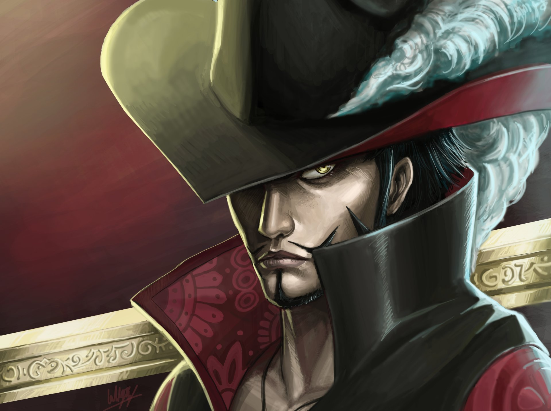 Anime - One Piece  Dracule Mihawk Wallpaper