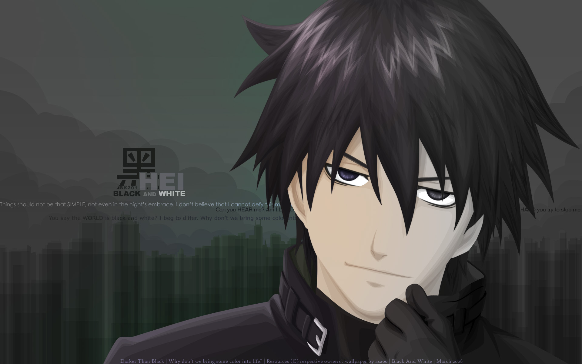 Hei Darker Than Black Hd Wallpaper Background Image 1920x1200