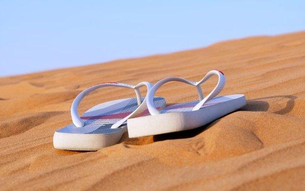 Photography Holiday Desert Nature Sandal Sand Dune Thongs HD Wallpaper | Background Image
