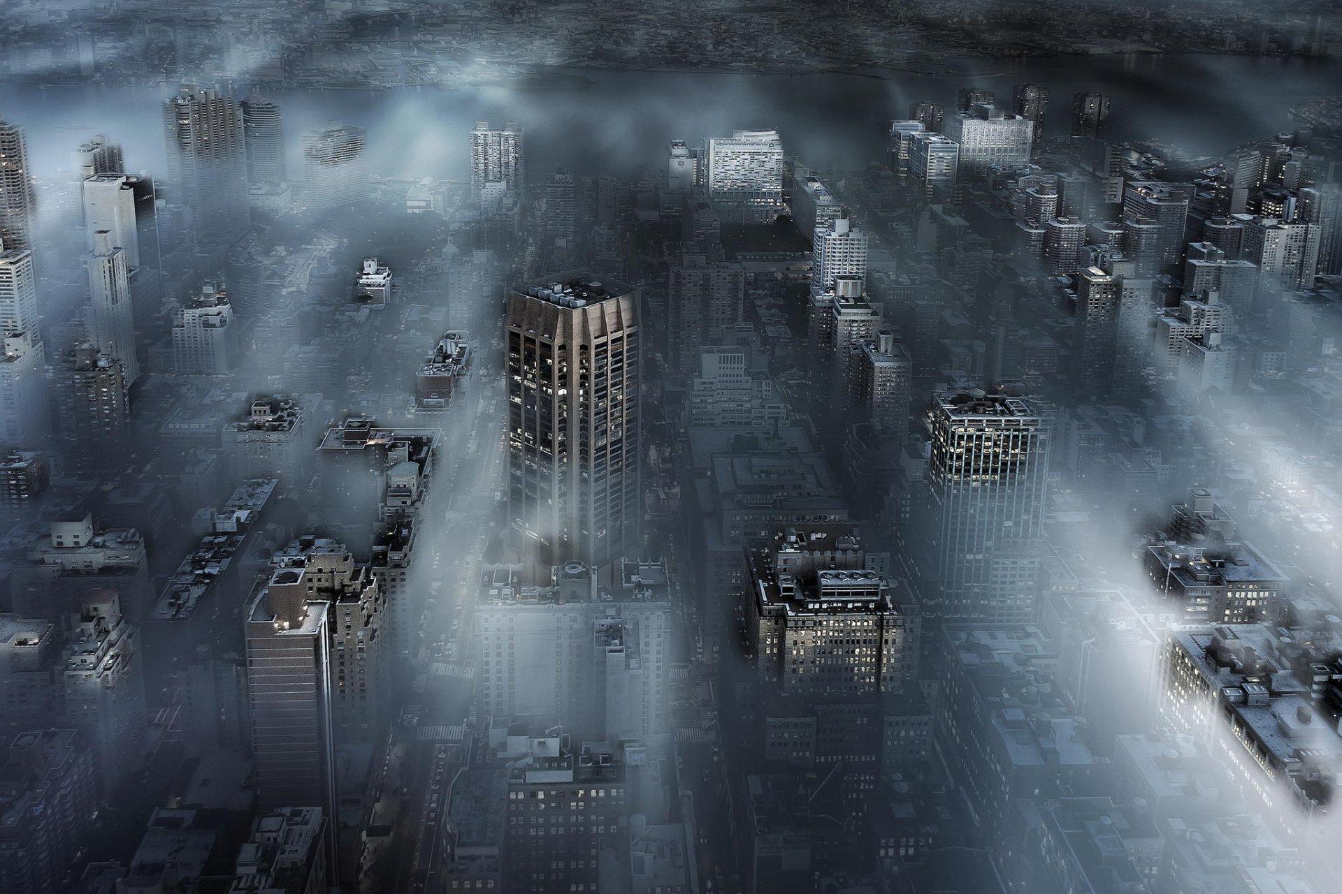 Man Made - New York  Sunbeam Fog Skyscraper Building Cityscape City Wallpaper