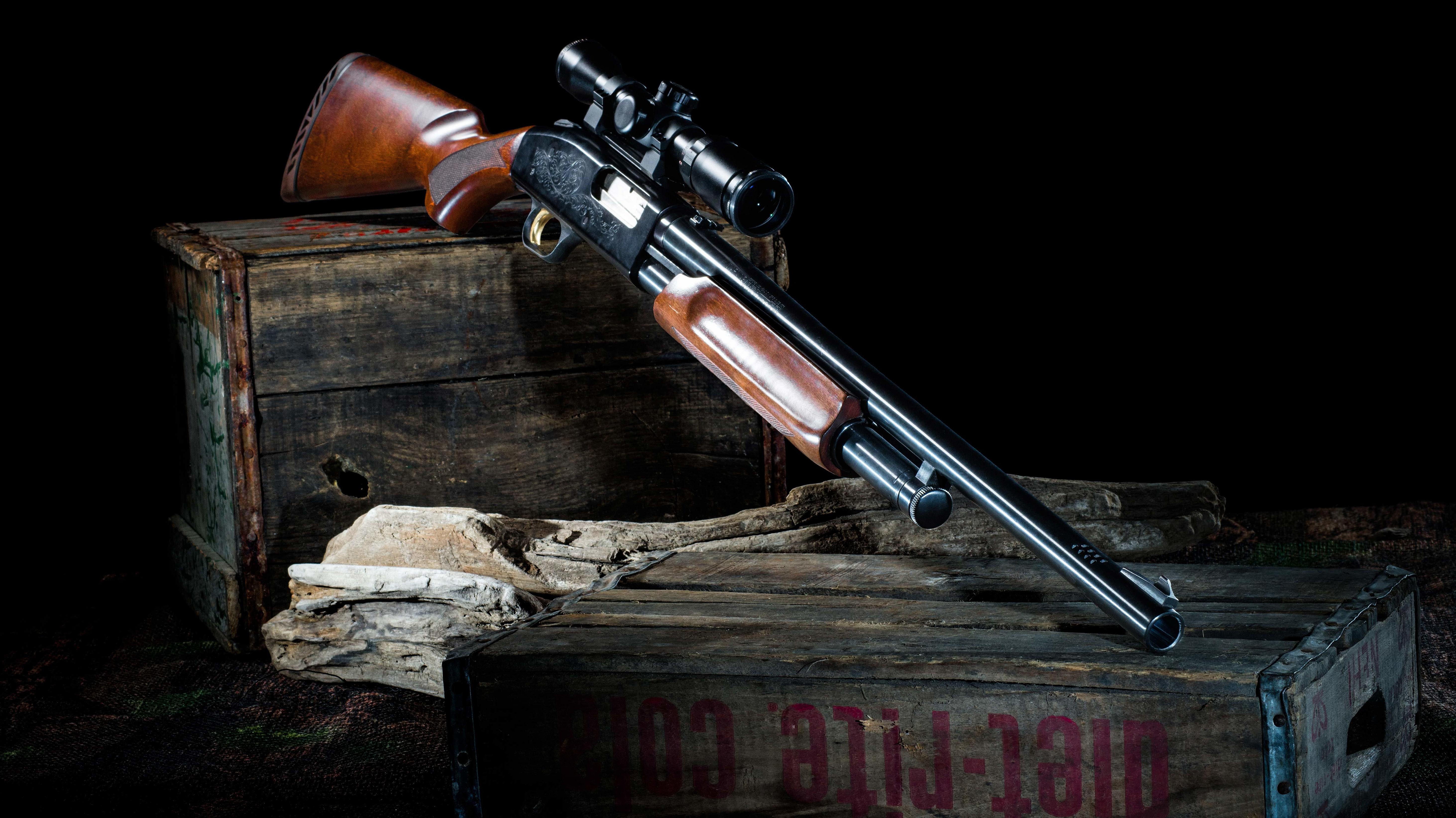 Mossberg 500 Shotgun 5k Retina Ultra HD Wallpaper and Background